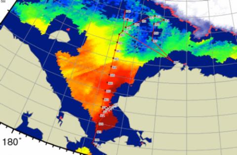 Ice Navigation RV Mirai Arctic Deployment 2013 #20